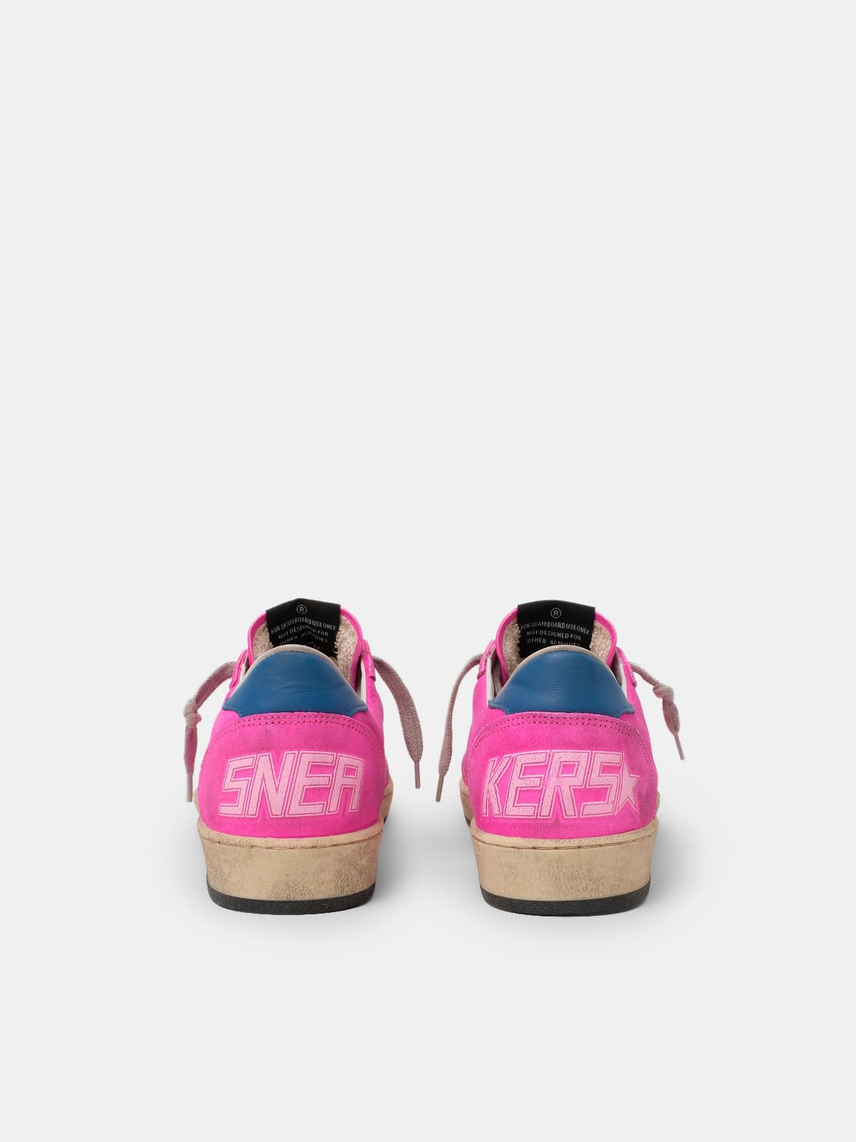 Ball Star sneakers in fuchsia leather with splashes of colour